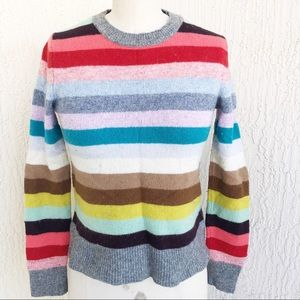 GAP Bold Color Stripe Wool Sweater!